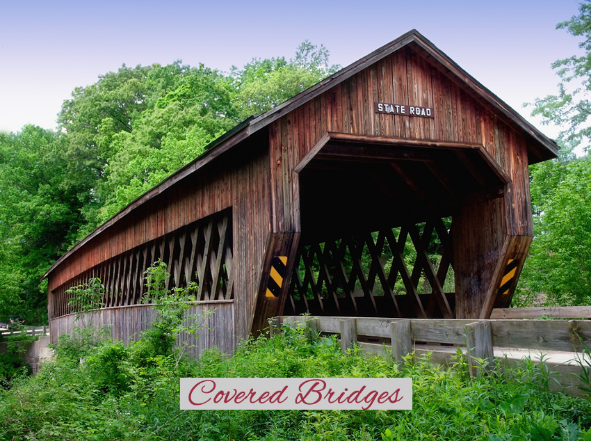 Abigails Lakeside Cottages Covered bridge